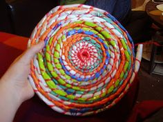#1 Lucky Ladybird Craft: Beautiful Baskets ~ crocheting a bag out of grocery…