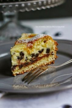 Mascarpone tart with chocolate chips Ricotta, Great Desserts, Delicious Desserts, Yummy Food, Best Italian Recipes, Italian Desserts, Sweet Recipes, Cake Recipes, Dessert Recipes