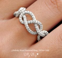 Triple Infinity Knot Ring on Etsy http://www.etsy.com/listing/101747132/infinity-diamond-band-3-infinity-knots?ref=cat_gallery_16