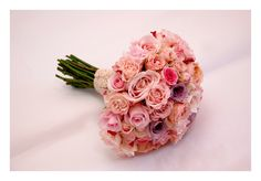 All rose pink bridal bouquet