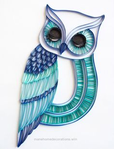 Fantastic The Sleepy Owl – Unique Paper Quilled Wall Art for Home Decor (paper quilling handcrafted art piece made with love by artist in California) The post The Sleepy Owl – Unique ..