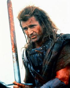 Mel Gibson as William Wallace in Braveheart 24X30 Poster on horse with spear