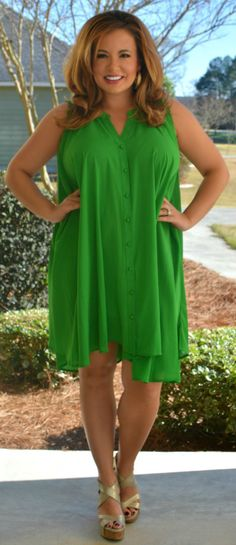 Perfectly Priscilla Boutique - The Grass Is Greener Dress, $48.00 (http://www.perfectlypriscilla.com/the-grass-is-greener-dress/)