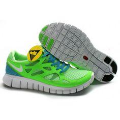 Mens Nike Free Run 2 Shoes Tender Green