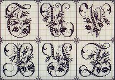 Милые сердцу штучки: рукоделие, декор и многое другое: Вышивка крестом: Алфавит из французского альбома XIX века (8)