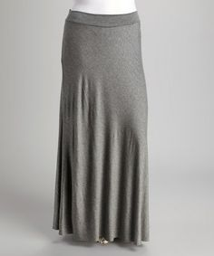 Take a look at this Gray Maxi Skirt - Plus by GLAM on #zulily today!