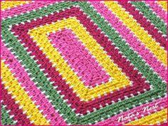 Rectangular Granny Blanket 'Spring' / Rechteckige Granny-Decke 'Spring' - Natas Nest