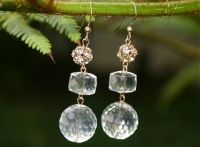 Antique Crystal Earrings by Sasha Lickle Designs