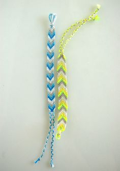 Instructions on how to make a chevron friendship bracelet!  Time to find my embroidery floss..... love it! must try! #ecrafty