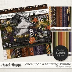 Once Upon A Haunting Bundle by Digilicious Design