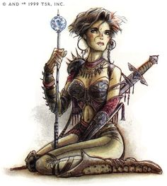AD&D 2nd Edition Planescape.  Factol Erin Darkflame Montgomery of the Sensates.