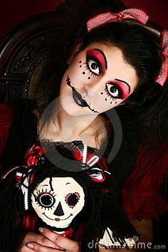 Goth Doll Costume Woman by Photoeuphoria, via Dreamstime