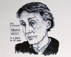 This is a poster print of the English writer Virginia Woolf (1882-1941) whose most famous works include 'Mrs Dalloway' (1925), 'To The Lighthouse' (1927), and her important essay 'A Room of One's Own' (1929).