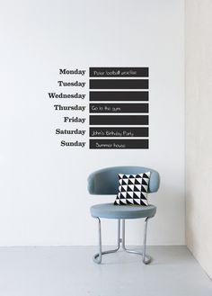 Sticker calendar.