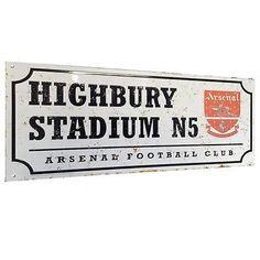 Arsenal fc retro #street sign #highbury stadium n5 football club #address team ne,  View more on the LINK: http://www.zeppy.io/product/gb/2/351511679758/