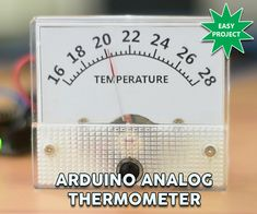Dear friends welcome to another tutorial! Today we are going to learn how to use this analog voltmeter with Arduino and make it show the temperature instead of the voltage. As you can see, in this modified voltmeter, we can see the temperature in degrees Celsius. The temperature is measured by this digital sensor, a DS18B20 and it is then displayed on the voltmeter. I really like analog dials like this one, because they give a vintage look to the projects. By building this project you are…