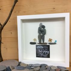 PebbleArt Couple, home decor by PebbleArtandGlass on Etsy