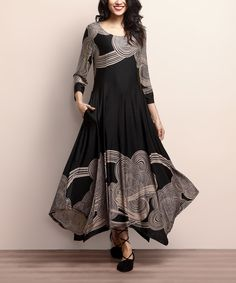Look at this Black & Taupe Cloud Handkerchief Maxi Dress on #zulily today! लिबास Photograph लिबास PHOTOGRAPH | IN.PINTEREST.COM WHATSAPP EDUCRATSWEB