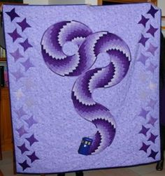 The tardis flying through quilt-space.....