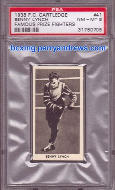 1938 cartledge benny lynch boxing card