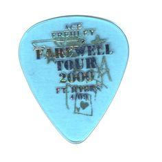 ACE FREHLEY guitar pick FAREWELL TOUR 2000 KISS Ft. Myers FL April 2000 rare!