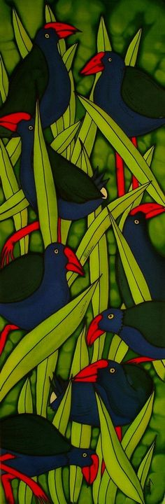 Outdoor garden art on aluminium by New Zealand by JoMayDesign Art Maori, New Zealand Art, Nz Art, Art Folder, Kiwiana, Metal Tree Wall Art, Bird Artwork, Street Art, Art Festival