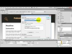 JackkTutorials shows you how to design a basic website in Dreamweaver Quick Links ------------------- Finished Project: http:& Dreamweaver Trial. Web Design Websites, Web Design Quotes, Graphic Design Tutorials, Modern Web Design, Web Design Trends, Web Design Inspiration, Simple Website Design, Basic Website, Dreamweaver Tutorial