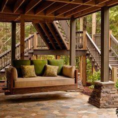27 amazing photos of fresh patio rooms ideas interiordesignshome ... - Under Deck Patio Ideas