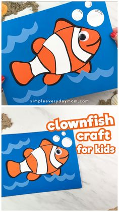 This simple fish craft is a great activity for preschool, pre k and kindergarten children. It comes with a free printable template which makes it a great cut and paste craft. This is one of the easiest crafts for kids!
