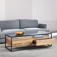 Box Frame Storage Coffee Table - Large - home - Narrow Coffee Table, Coffee Table With Storage, Round Coffee Table, Modern Coffee Tables, Unusual Coffee Tables, Oversized Furniture, Modern Furniture, Furniture Design, Business Furniture