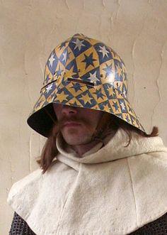 Painted sallet helmet