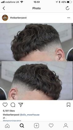 New Hair Cuts Hombre Hairstyles Ideas Curly Hair Cuts, Short Curly Hair, Short Hair Cuts, Curly Hair Styles, Crop Haircut, Fade Haircut, Hairstyles Haircuts, Cool Hairstyles, Mens Hairstyles Fade