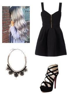 """""""Black Dress"""" by rocio-scummy ❤ liked on Polyvore"""