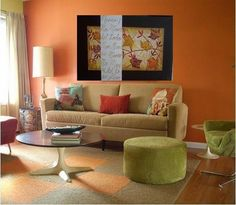 The Blue Color for Small Living Room Decorating Ideas Living Room Orange, Indian Living Rooms, Living Room Grey, Living Room Decor, Room Paint Colors, Paint Colors For Living Room, Living Room Wall Designs, Rideaux Design, Family Room Walls