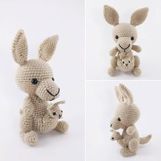 "Thank you to my sister who bugged and bugged me, ""Have you made the kangaroo baby yet??"" Because I finally did!!  Mommy and baby are together at last. ❤️ I have updated my #kangaroo pattern to include instructions for the little guy and have listed it in my Etsy shop (link is in my bio)! If you've already purchased my kangaroo pattern and would like the instructions for the baby, just DM me!"