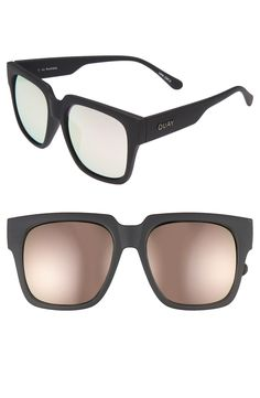 a5cdce4a63e Quay Australia  On the Prowl  55mm Oversize Square Sunglasses available at   Nordstrom Modern