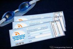 Schwimmbad-Geburtstag Einladung | Kindergeburtstag-Planen