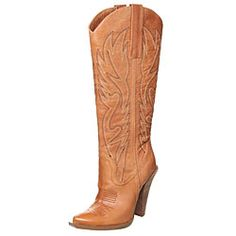 @Overstock.com - Jessica Simpson Women's 'Alan' Western Boots - Kick up your heels in sexy western boots from Jessica SimpsonCowboy boots feature a high shaft with flame-inspired stitchingWomen's shoes designed with two pull tabs for slip-on functionality   http://www.overstock.com/Clothing-Shoes/Jessica-Simpson-Womens-Alan-Western-Boots/3825577/product.html?CID=214117 $109.99