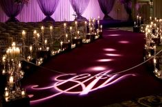 Awesome ceremony lighting and decor!