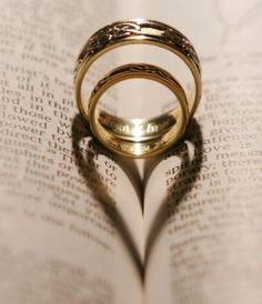 Wedding ring heart photo