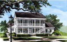 Elevation of Colonial Southern House Plan 86117