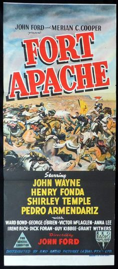 FORT APACHE Original Daybill Movie Poster John Wayne John Ford RKO -Watch Free Latest Movies Online on Moive365.to