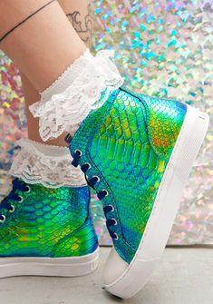 Mermaid Scale High Top Sneakers                                                                                                                                                                                 More
