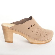 Scallop Clog Mocha now featured on Fab.