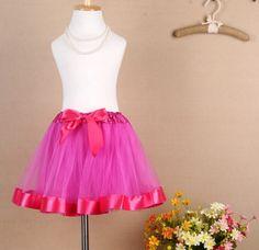 Faldas para niñas con tutu y cintas