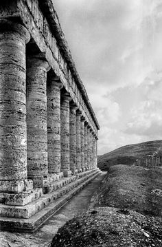 1981, Sicily, Temple of Segesta, by Frank Horvat