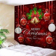 Xmas Art Home Wall Hanging Tapestry Wall Ornamentation Christmas Wall Decor USA Christmas Wall Art, Christmas Bells, Merry Christmas, Christmas Diy, Christmas Ribbon, Christmas Jumpers, Christmas Things, Cheap Wall Tapestries, Tapestry Wall Hanging