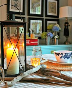 Driftwood for tabletop decor: http://www.completely-coastal.com/2015/05/southern-home-coastal-nautical-accents.html