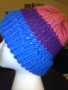 Bi Pride Hat by dreahsdesigns on Etsy, $15.00