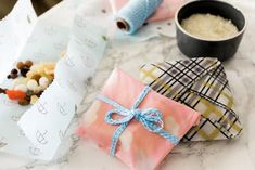 Bee's Wax Cloth instead of plastic wrap...Turning your household into a sustainable space doesn't need to cost an arm and a leg with the help of these thrifty tips.